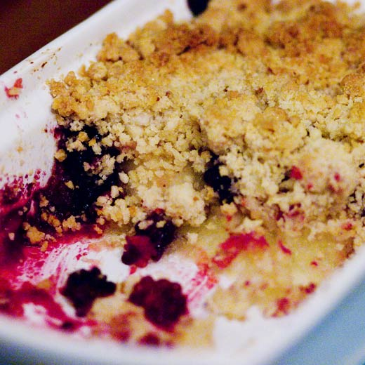 cheap and very easy apple and blackberry crumble | Angie Muldowney