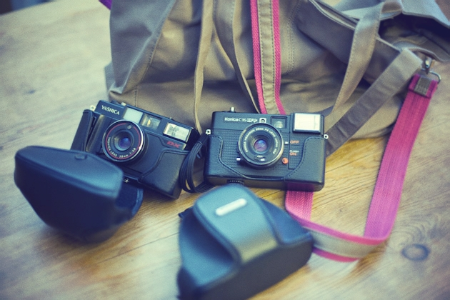 new bag and old cameras