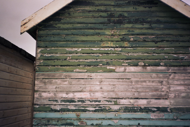 old beach hut taken with Konica C35