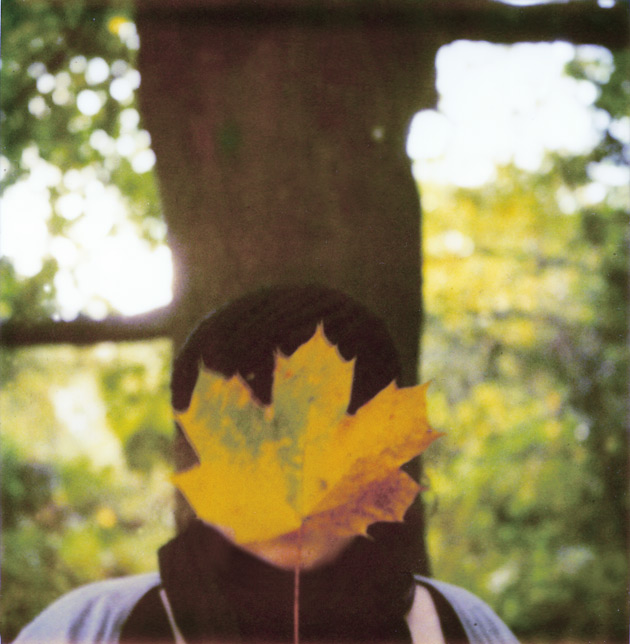 polaroid - me and a leaf