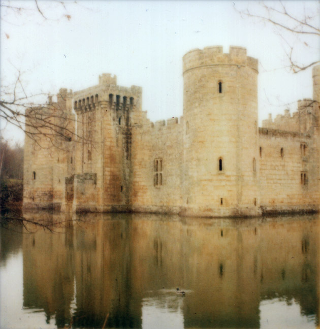 Polaroid of Bodiam Castle, Sussex