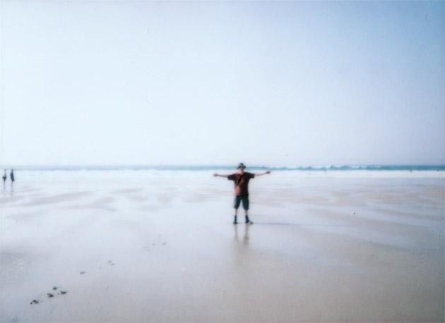 instax mini - mark on the beach