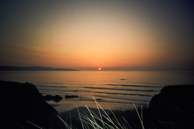 sunset at gwithian