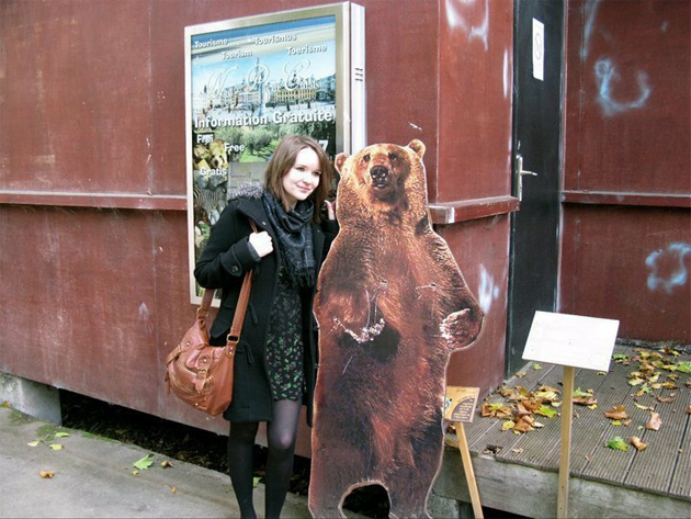 michelle and a bear