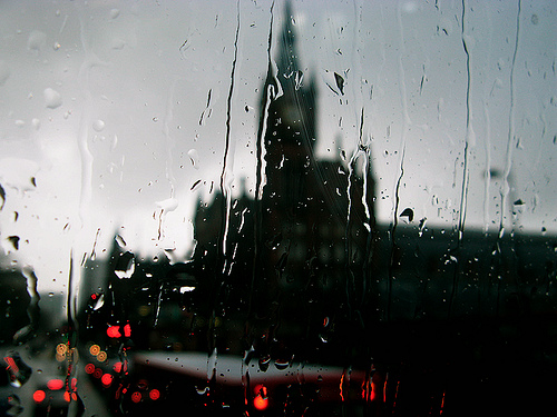 st pancras in the rain