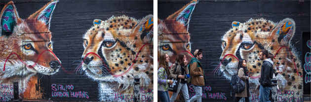 fox and cheetah - hanbury street, off brick lane