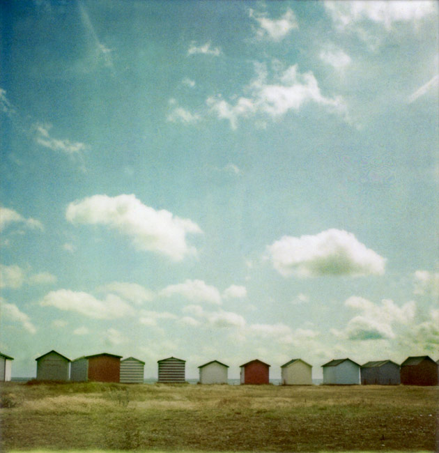 polaroid SX-70 - beach huts