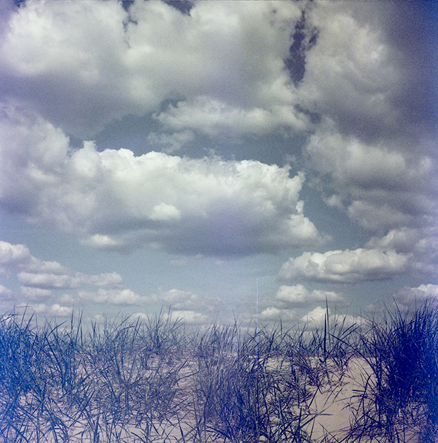 Clouds - Lubitel 2 (redscale)