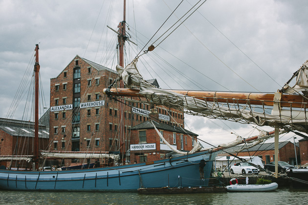 Old ships at the old Gloucester docks